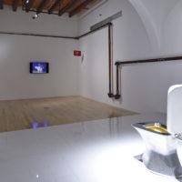 Yoshua Okón. Vista de la exposición Colateral en Museo Amparo, Puebla, México, 2018. Cortesía de Museo Amparo