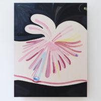 Desiluminaciones, 2018. Acrílico, Acrílico gouache, Flashé, temple de huevo y lápiz de color sobre tela de lino, 213 x 165 x 4 cm. Cortesía de Lodos