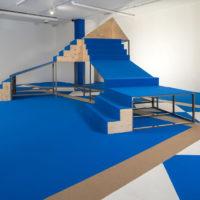 Alia Farid. Vista de la exposición Formas caídas en NC-arte, Bogotá, Colombia, 2018. Cortesía de NC-arte