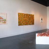 Margarita Cabrera and Cisco Jiménez. Exhibition view ofCollaborative Work | Sounds from the Archeological Time Machine, at Ruiz-Healy Art, San Antonio, Texas, 2018. Courtesy ofRuiz-Healy Art