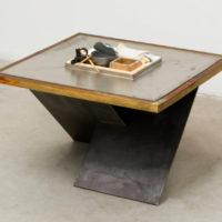 Adriano Costa, Mesa / Desafios Do Design De Interiores I, 2018, metal, wood, hashi, sock, 33 × 58 × 53 cm. Image courtesy of Mendes Wood DM
