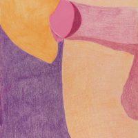 Sin título, 1974. Lápiz color sobre papel. 35 x 28 cm. Imagen cortesía de Henrique Faria Buenos Aires