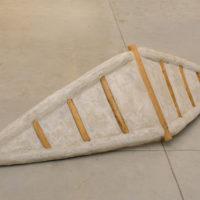 Ivens Machado. Sem título [Untitled], 1991. Reinforced concrete and wood, 60 x 180 x 50 cm. © Acervo Ivens Machado. Photo: David Geiger. Courtesy Fortes D'Aloia & Gabriel, São Paulo/Rio de Janeiro