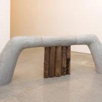 Ivens Machado. Sem título [Untitled], 2001. Concrete and wood, 135 x 375 x 96 cm. © Acervo Ivens Machado. Photo: David Geiger. Courtesy Fortes D'Aloia & Gabriel, São Paulo/Rio de Janeiro