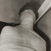Ivens Machado. Untitled (Performance with surgical bandage) #62, 1973–2018. Gelatin silver print. 45 x 30 cm. © Acervo Ivens Machado. Photo: David Geiger. Courtesy Fortes D'Aloia & Gabriel, São Paulo/Rio de Janeiro.