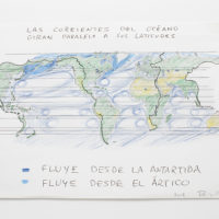 World Spins in Parallel / Antartica. Color pencil on paper. 11 X 17 inches each. Image courtesy of Embajada
