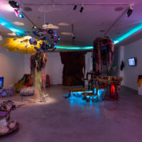 Young Joon Kwak & Mutant Salon, CAVERNOUS, installation view. Courtesy of Los Angeles Contemporary Exhibitions (LACE). Photo by Chris Wormald
