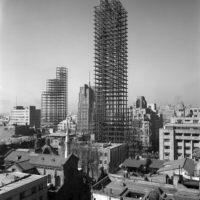 Juan Guzmán, Estructura de la Torre Latinoamericana, Ciudad de México, enero de 1952. Colección y Archivo de Fundación Televisa/Fondo Juan Guzmán.