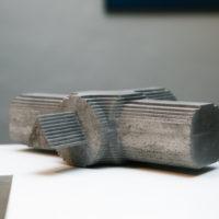 Miguel Ángel Salazar, Forgotten Landscapes, 2018. Impresiones 3D en cemento. Imagen cortesía del artista.