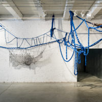 Sheila Pepe: Hot Mess Formalism, organized by Phoenix Art Museum, curated by Gilbert Vicario; Installation image courtesy Bemis Center for Contemporary Arts, Omaha, NE, June–September 2018; Photo: Colin Conces