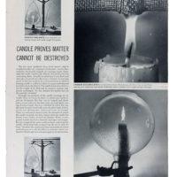 Hoja de revista con artículos de Física y Química. Fondo Wolfgang Paalen Acervos documentales. Museo Franz Mayer. Cortesía MACG