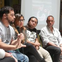 El 13 de agosto se llevó a cabo un conversatorio en el Museo Nacional de Historia, con Jesús Bubu Negrón de Puerto Rico, Humberto Vélez de Panamá y Maya Juracán, curadora guatemalteca. Imagen cortesía de Fundación Paiz.