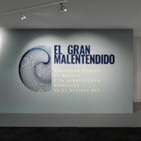 Vista de instalación, El gran malentendido. Wolfgang Paalen en México y el surrealismo disidente de la revista DYN, en Museo de Arte Carrillo Gil. Imagen cortesía de MACG