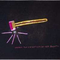 Siron Franco, Goiânia rua57 Outubro de 1987. Pintura sobre papel Fabriano. 1987. 70,2 x 50 cm. Foto: Daniel Malva / Fundação Bienal de São Paulo