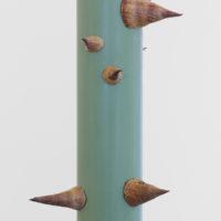 Vertical Flux. Tubo PVC, espinas de ceiba. Fotografía: Bruno Viruete. Cortesía de Ladera Oeste