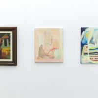 Vista de la exhibición Ontologías pictóricas con obras de Miguel Cobarrubias y Lucía Vidalesen ESPAC, Ciudad de México, 2018. Cortesía de ESPAC