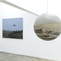 Vista de la exhibición Ontologías pictóricas con obras de Alberto Ibáñez Cerda y Yishai Jusidman en ESPAC, Ciudad de México, 2018. Cortesía de ESPAC