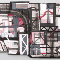 NYC Wide, 2003. Ink, gouache, and graphite on constructed paper 22 x 55 inches. Courtesy of Fidelity Investments Corporate Art Collection