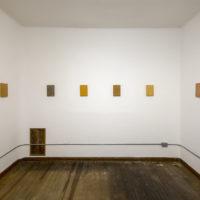 Juan Caloca. Cambio de Estado (homenaje a Eppens Helguera), 2018. Vista de exposición en Parque Galería.