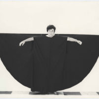 Martha Araújo (Brazilian, b. 1943), Hábito/Habitante (Habit/inhabitant), 1985. Documentation of performance: four black-and-white photographs. 6 7/8 × 8 7/8 in. (17.5 × 22.5 cm) each. Collection of Martha Araújo; courtesy of Galeria Jaqueline Martins. ©the artist