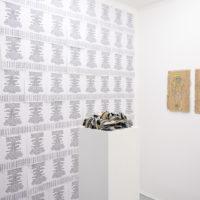 Exposición colectiva. Bordo, vista de instalación en Galería Progreso, 2018. Imagen cortesía de Galería Progreso