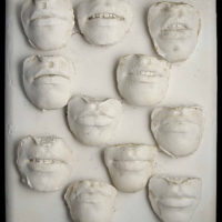 Amelia Toledo (Brazilian, b. 1926), Sorriso do menina (Girl's smile), 1976. Mold in plaster. 16 9/16 × 13 × 3 1/8 in. (42 × 33 × 8 cm). Collection of Fernando and Camila Abdalla. ©the artist.