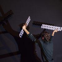 Víctor del Moral, paLíndro. Performance en Centro Cultural Metropolitano, Quito, 2018. Fotografía por Francois (Coco) Laso. Imagen cortesía de Cisneros Fontanals Art Foundation.