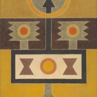 Rubem Valentim, Pintura - 15 (1964). Image courtesy: Berenice Arvani Gallery