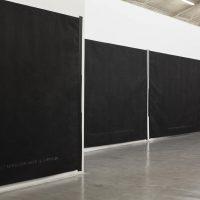 Ana Gallardo, Dibujos textuales II (2018). Imagen cortesía de Ruth Benzacar Galería de Arte