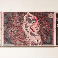Santiago Robles, Códice Starbuckstlán. Lámina 18, Galería Libertad, Querétaro, 2018. Imagen cortesía del artista