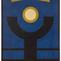 Rubem Valentim, Emblema 34 (1973). Image courtesy: Berenice Arvani Gallery