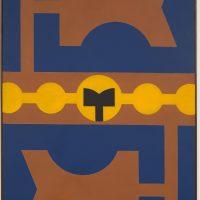 Rubem Valentim, Emblema IX (1973). Image courtesy: Berenice Arvani Gallery