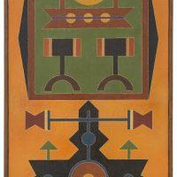 Rubem Valentim, Pintura VI (1964-65). Image courtesy: Berenice Arvani Gallery