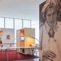 Vista de la exposición Alcira Soust Scaffo. Escribir poesía, ¿vivir dónde? en Museo Universitario Contemporáneo Arte Contemporáneo, 2018. Cortesía MUAC