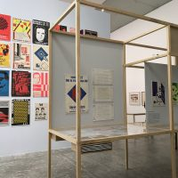 Vista de la exposición Grupo Mira. Una contrahistoria de los setenta en México en el Museo Universitario Arte Contemporáneo, 2018