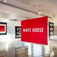 Jenny Holzer, White house (2018). Felt banner.Image courtesy of Artpace