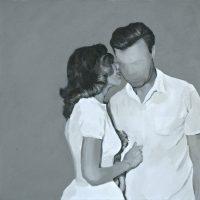José Morbán, Lovers (c. 1958), (2017). Acrílico y óleo sobre tela. Imagen cortesía de Casa Quién