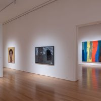Toyin Ojih Odutola, Ronald Jackson and Aaron Wrinkle installation view from the exhibition Pulse (2018). Image courtesy of Nerman Museum of Contemporary Art