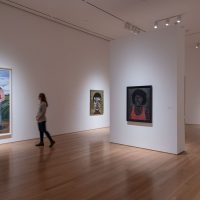Toyin Ojih Odutola and Ronald Jackson installation view from the exhibition Pulse (2018). Image courtesy of Nerman Museum of Contemporary Art