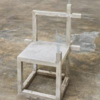 Felipe Arturo, Unfinished concrete chair #14, 2015. Imagen cortesía del artista