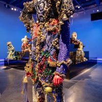Raúl de Nieves, Ceremonial Alien of Metal Exits (2017). Installation view. The Cleveland Museum of Art at the Transformer Station. . Courtesy of the artist and Company Gallery, New York. Photo courtesy Howard Agriesti, the Cleveland Museum of Art