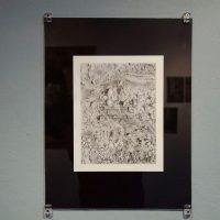 Susana del Rosario, Fronteras y líneas imaginarias, 2018. Lápiz grafito sobre papel. 27.9 x 21.6 cm. Imagen cortesía de Violenta