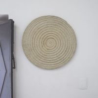 Moisés García Nava, Espiral blanca (2019). Pulpa para papel de algodón e ixtle. Image courtesy of Parallel Oaxaca