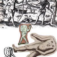 Los Blemias, especie humana proveniente de la tradición Romana, perduro hasta la Edad media y Renacimiento en el imaginario Europeo. Los colonizadores los ubicaban como pobladores de a las Américas, África y la India