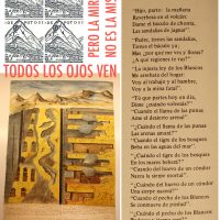 Sello y plano de minas del Potosí en Perú, poema El Mitayo de Manuel Gonzalez Prada