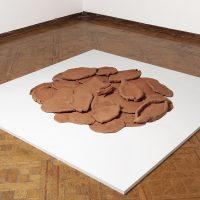 Lucía Pizzani, Coraza (2019). Installation of 30 clay pieces from Oaxaca.Image courtesy of Fundación Marso