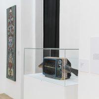 Obra de Flavio Álava (Guayaquil, 1957), en La Artefactoría, Centro de Arte Contemporáneo de Quito, 2019. Fotografía: Pablo Jijón. Comunicación y Diseño, Centro de Arte Contemporáneo de Quito