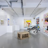 Tschabalala Self, Bodega Run, installation view, Pilar Corrias Gallery, London, September 7—27, 2017