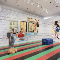 Hammer Projects: Tschabalala Self, installation view, Hammer Museum, Los Angeles. Photo: Joshua White