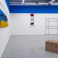 No me digas entiendo, vista de instalación. Alfredo Dufour en MARCO – Museo de Arte Contemporáneo de La Boca, Buenos Aires, 2018 – 2019. Imagen cortesía del MARCO